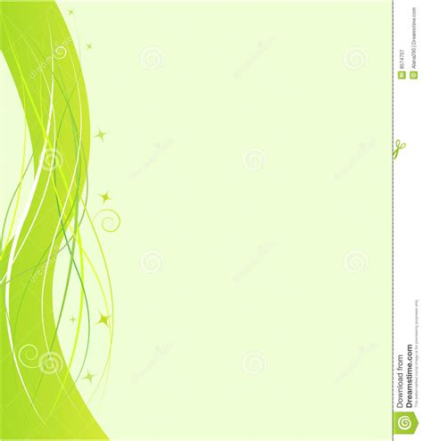green plans green design template with swirl ornament royalty free stock photography image 8574707