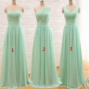aliexpresscom buy mint green long chiffon a line With mint green dresses for wedding