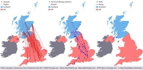public transport connections  scotland   rest