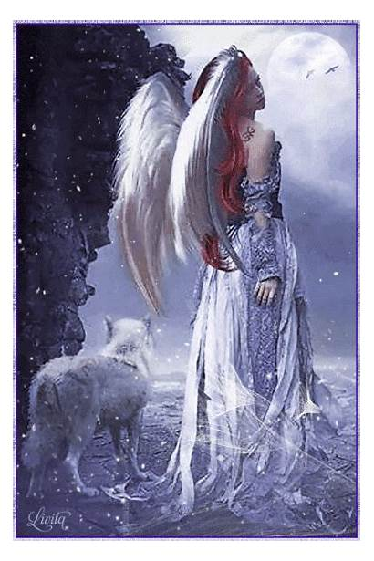 Angel Gifs Fantasy Angels Wolf Animated Desktop