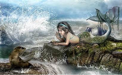 Mermaid Desktop Computer Wallpapers Backgrounds Fantasy Background