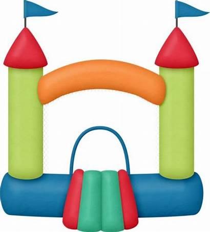 Bounce Bouncy Clipart Clip Castle Carnival Silhouette