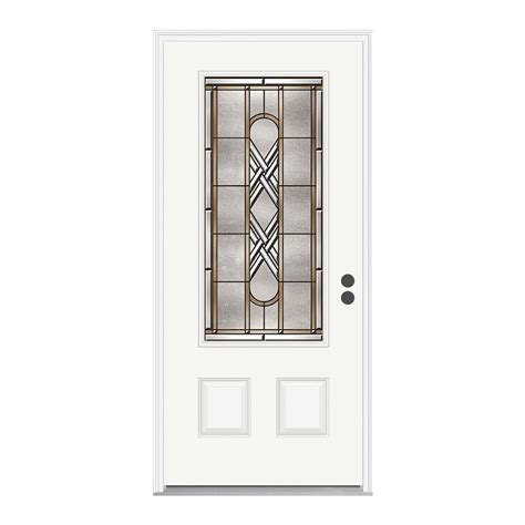 steel entry door home depot jeld wen 36 in x 80 in ascot 3 4 oval lite primed