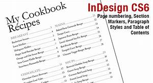 indesign cs6 page numbers section markers and table of With table of contents template indesign