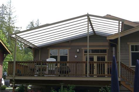 custom gable patio cover on craftsman style home