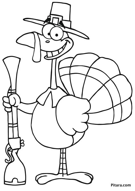 turkey coloring pages  kids pitara kids network