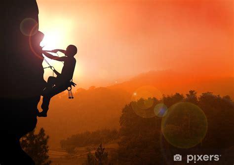 Mountain Climbing Sunset Wall Mural Pixers Live