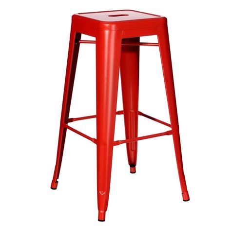 Sgabello Rosso Sgabello Alto Industrial Chic Rosso Sedie Sgabelli Industrial