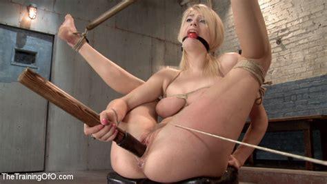 Young Roped Blonde Slave Fucks Long Dildo A Xxx Dessert