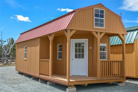 Barn With Porch by New Building 12 X32 Wrap Around Porch Lofted Barn Cabin