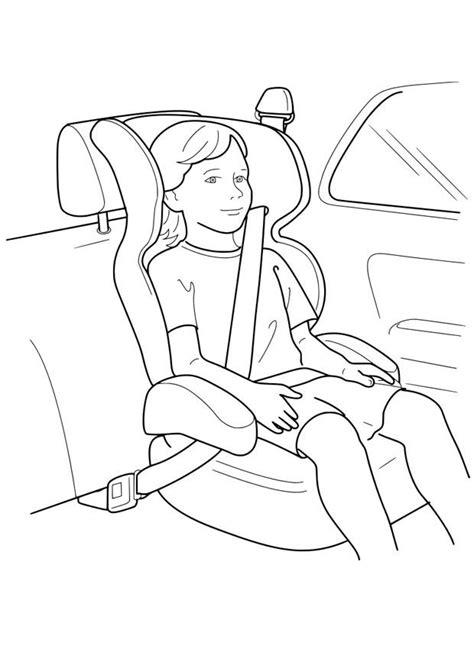 dibujo  colorear silla de coche img