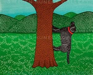 I Climb Up A Tree Original Woodcut