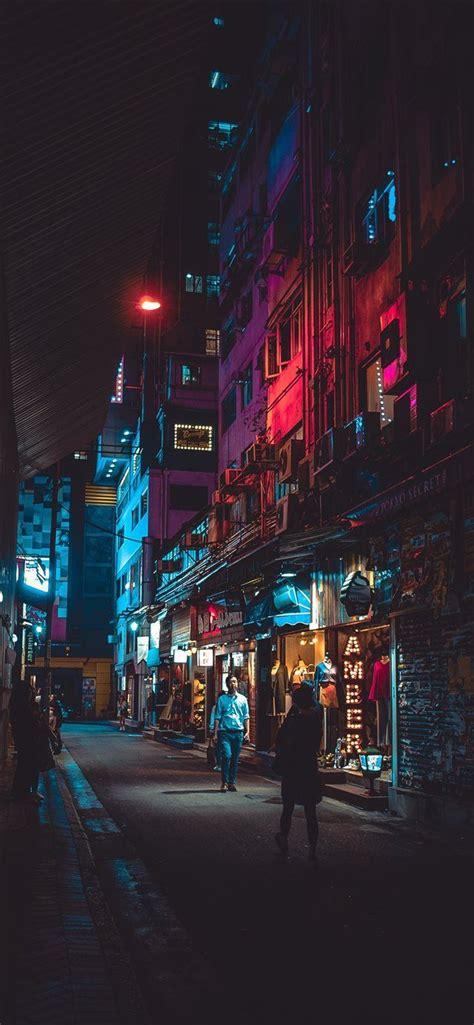 night  hong kong iphone  wallpaper wallpaper hongkong