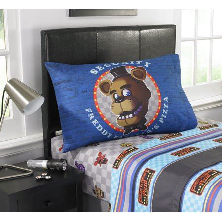 five nights at freddy s pizza security bedding sheet