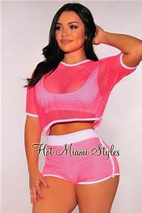 Neon Pink Net Hoo Two Piece Set