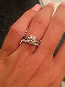 Show off your 15 carat center stone diamond engagement for Wedding rings to go with solitaire engagement ring