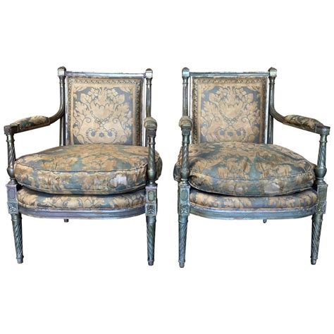 fauteuil style louis 16 pair of louis xvi style fauteuil for sale at 1stdibs