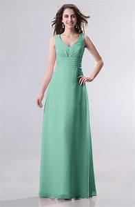 mint green simple empire sleeveless zip up ruching wedding With mint green wedding guest dress