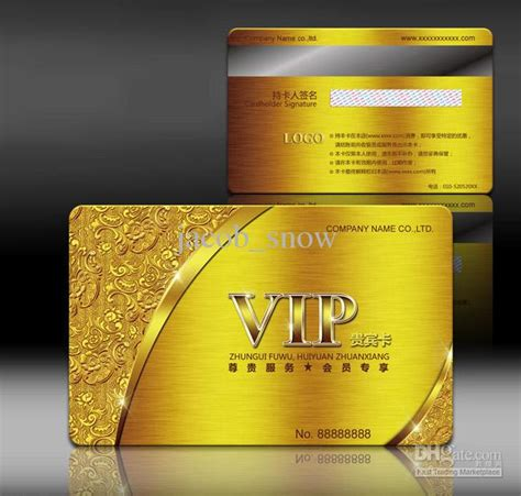 2018 Gold Card,metallic Plastic Card Printing,guaranteed