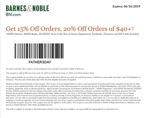 Barnes Ans Noble Coupon by Barnes And Noble Coupons In Store Printable Coupons 2019