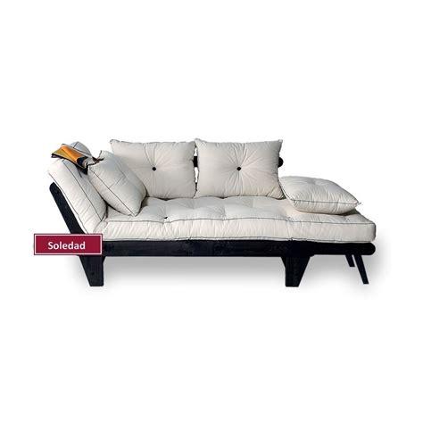 canape lit canapé lit soledad bois de caoutchouc 1 personne