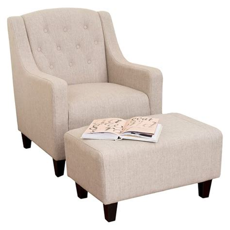 chair and ottoman target elaine tufted fabric chair and ottoman christopher