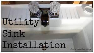 Utility Sink Installation - The Drain