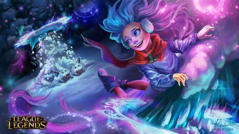 snow day zoe  anarlie league  legends wallpapers art