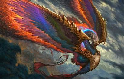 Wings Fire Fantasy Bird Feather Wallpapers Feathers