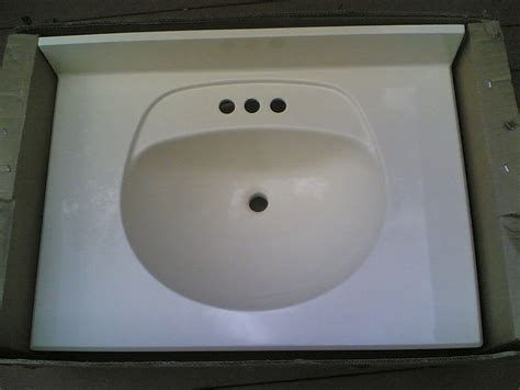 New Bathroom Sink by New Bathroom Beige Premium Cultured Marble Sink 31x22 Ebay
