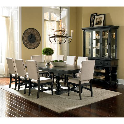 Steve Silver Leona 9 Piece Dining Table Set  Dining Table