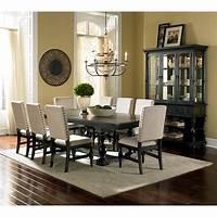 black dining room table Steve Silver Leona 9 Piece Dining Table Set - Dining Table Sets at Hayneedle