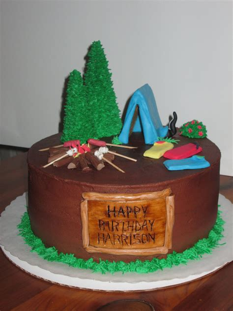 camping cake childrens birthday cakes camping cakes
