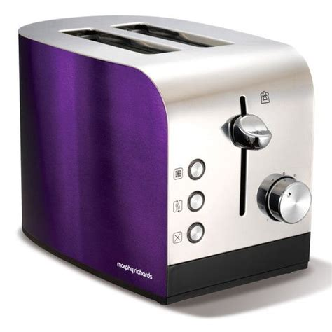purple toaster oven morphy richards purple kettle and toaster morphy