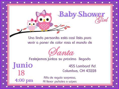 invitaciones de baby shower de buho para imprimir invitacion de b 250 ho para baby shower ni 241