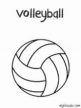 Volleyball Coloring Pages Ball Volley Easy Drawing Printable Templates Sport Template Clipart Sheets Sketch Getdrawings Popular Abc sketch template