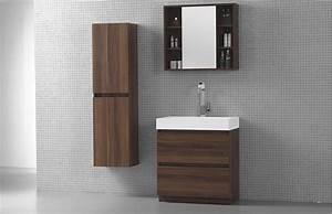 Meuble Salle De Bain Noyer : ensemble de salle de bain moderne en bois mario ~ Melissatoandfro.com Idées de Décoration