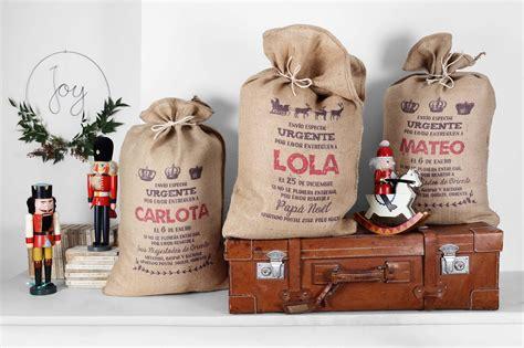 sacos de xmas bag  una navidad personalizada decopeques