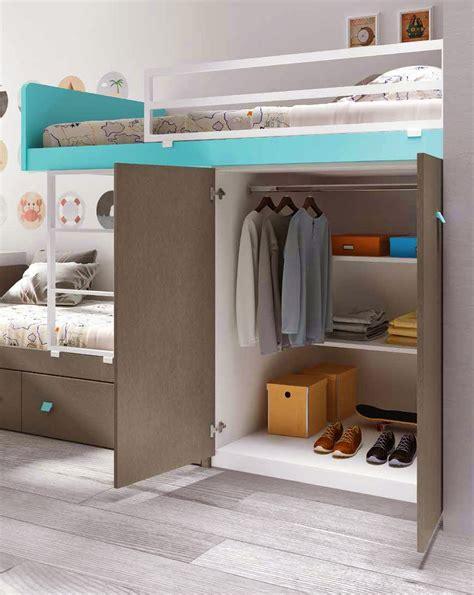 lit superpose avec bureau lit superposé avec rangement et personnalisable glicerio