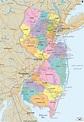 Detailed Political Map of New Jersey - Ezilon Maps