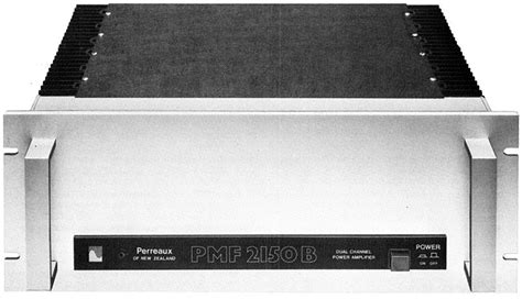 perreaux industries pmf  manual dual channel