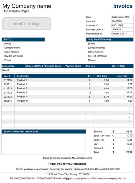 sales invoice professional sales invoice templates  excel