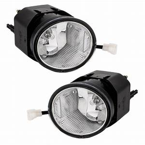 Pair Chrome Clear Bumper Fog Lights Switch Fits For 2002