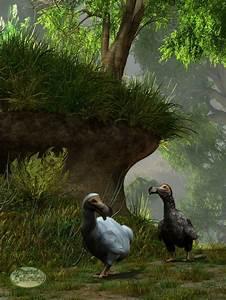 Dodos in the Forest by deskridge on DeviantArt