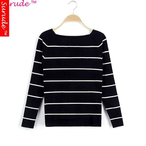 black and white striped sweater pullover winter sweaters 2015 black and white