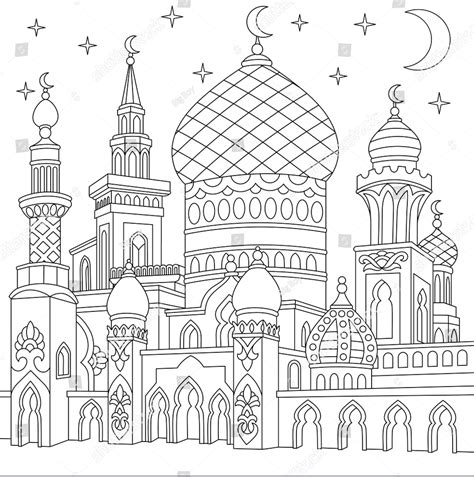 menggambar masjid bagus