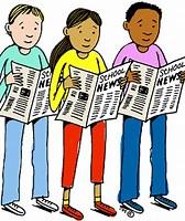 Image result for Clip Art student Newspaper