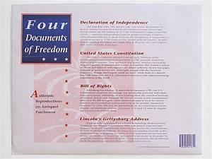 Four documents of freedom souvenir replica pack for 4 documents of freedom