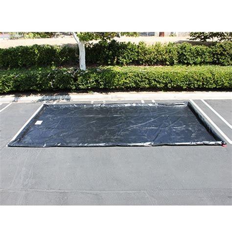 Garage Floor Water Containment Mats by Husky Standard Duty Water Containment Mat Black 10 Ft