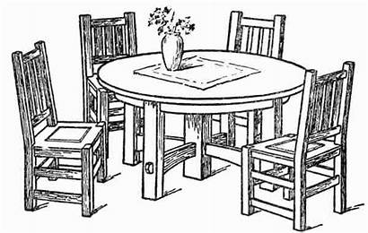 Dining Table Drawing Kitchen Dinner Sketch Getdrawings